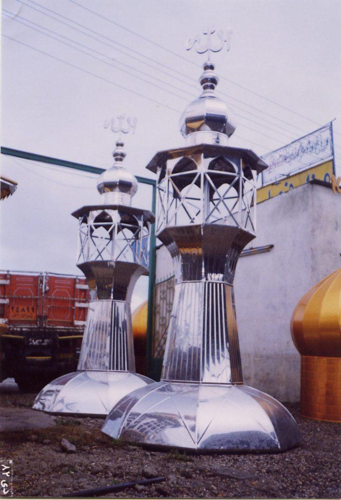 گلدسته استیل نقره ای شیراز