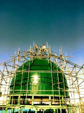 ساخت گنبد مدل مسجدال